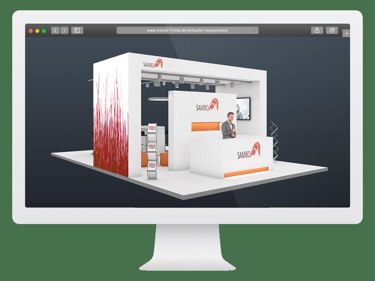 Virtueller Messestand im Browser